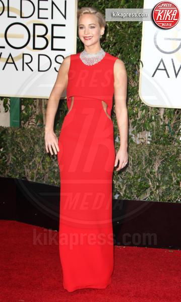 2016 -, Jennifer Lawrence - Los Angeles - 10-01-2016 - Golden Globe 2016: le dive fronte e retro
