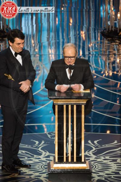 Giovanni Morricone, Ennio Morricone - Hollywood - 29-02-2016 - Oscar 2016: and the Oscar goes to... Ennio Morricone!