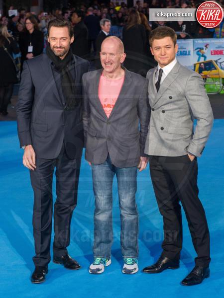 Michael Edwards, From Left, Taron Egerton, Hugh Jackman - Londra - 17-03-2016 - Eddie the Eagle, le star sono Hugh Jackman e Claudia Schiffer
