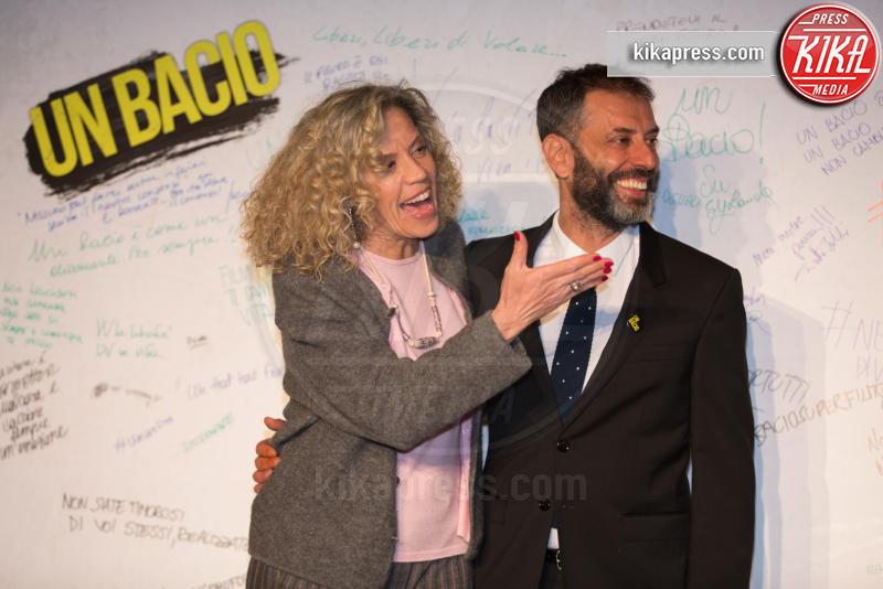 Monica Cirinnà, Ivan Cotroneo - Roma - 23-03-2016 - I vip di spettacolo e politica alla prima di Un Bacio