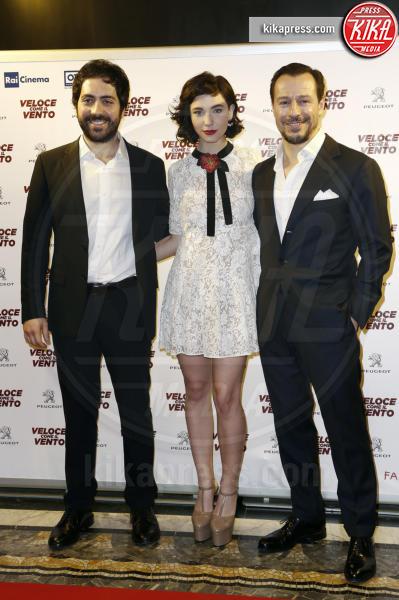Matilda De Angelis, Matteo Rovere, Stefano Accorsi - Milano - 06-04-2016 - Bianca Vitali e Stefano Accorsi, coppia d'oro sul red carpet