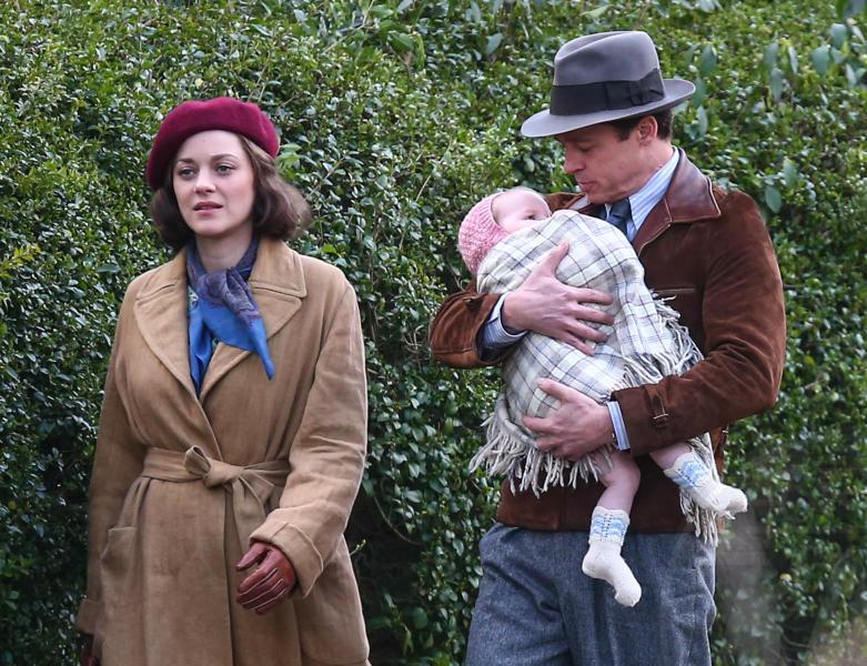 Marion Cotillard, Brad Pitt - Surrey - 31-03-2016 - Amore sul set tra Brad Pitt e Marion Cotillard?