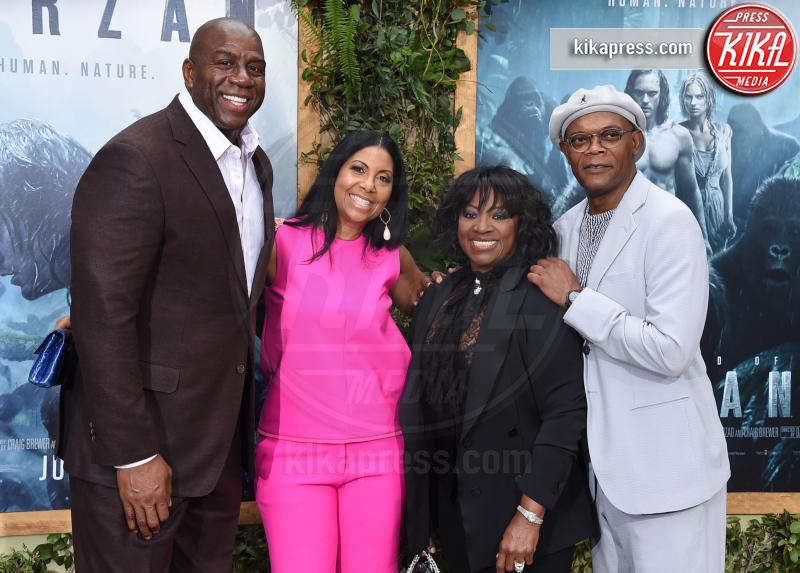 Samuel L. Jack, Cookie Kelly, LaTanya Richardson, Magic Johnson - Hollywood - 27-06-2016 - The Legend of Tarzan: la premiere mondiale a Los Angeles