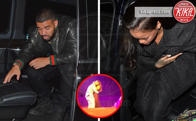 Drake, Rihanna - Londra - 01-07-2016 - Rihanna-Drake: il bacio sul palco, poi in hotel insieme