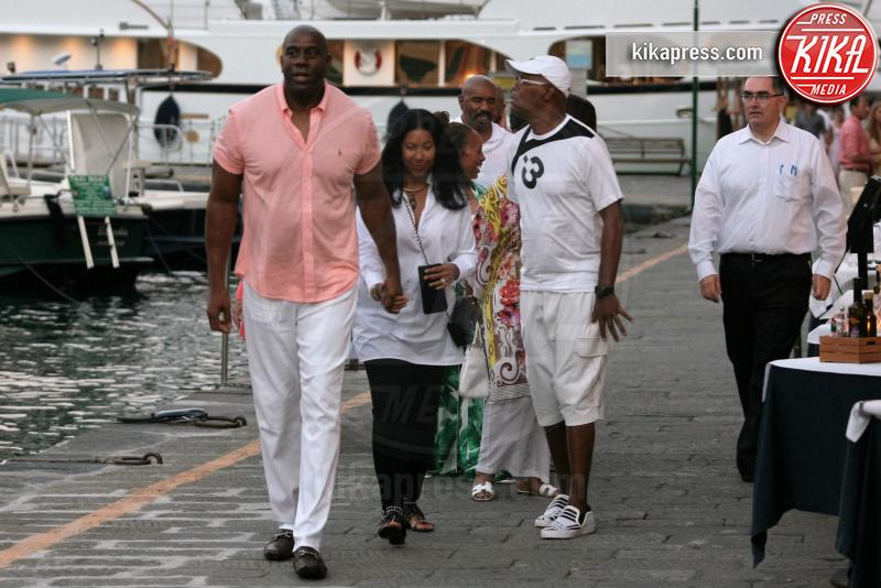 Marjorie Bridges-Woods, Earlitha Kelly, Steve Harvey, Magic Johnson - Portofino - 03-07-2016 - Estate 2019: i vip turisti abituali in Italia