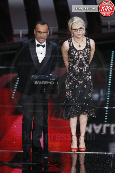 Maria De Filippi, Carlo Conti - Sanremo - 09-02-2017 -  Sanremo 2017: show di Mika nella serata delle Cover
