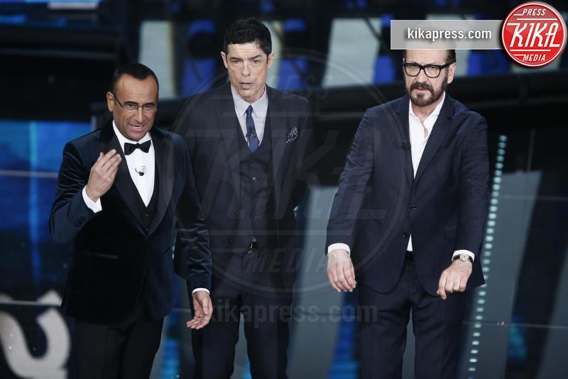 Alessandro Gassmann, Marco Giallini, Carlo Conti - Sanremo - 09-02-2017 -  Sanremo 2017: show di Mika nella serata delle Cover