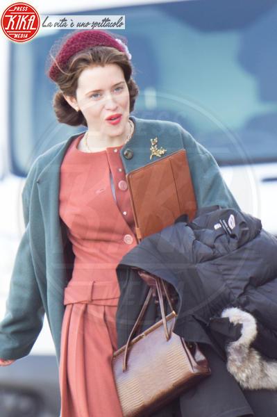 Claire Foy - Londra - 20-02-2017 - Olivia Colman nei panni della Regina,le prime immagini ufficiali