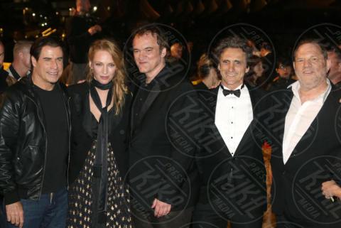 Lawrence Bender, Harvey Weinstein, John Travolta, Quentin Tarantino, Uma Thurman - Cannes - 23-05-2014 - Harvey Weinstein, 25 milioni alle vittime ma si dice innocente