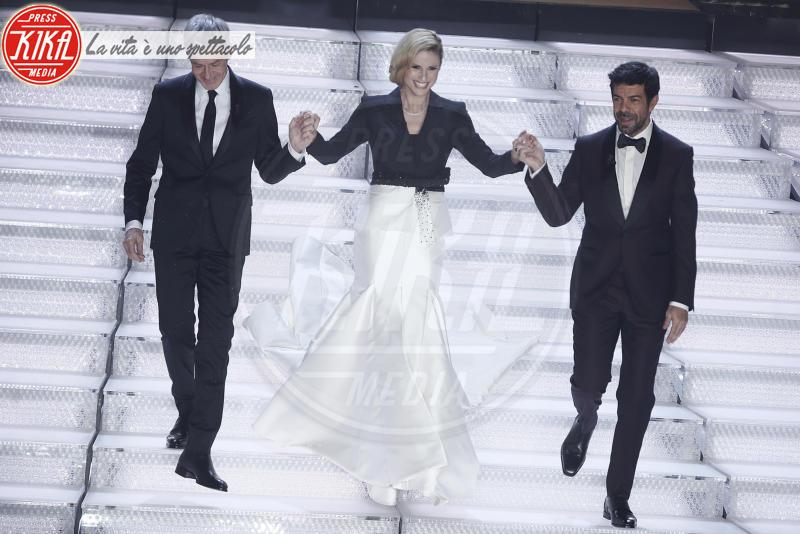 Pierfrancesco Favino, Michelle Hunziker, Claudio Baglioni - Sanremo - 08-02-2018 - Sanremo 2018: l'ironia dei conduttori sul caso plagio