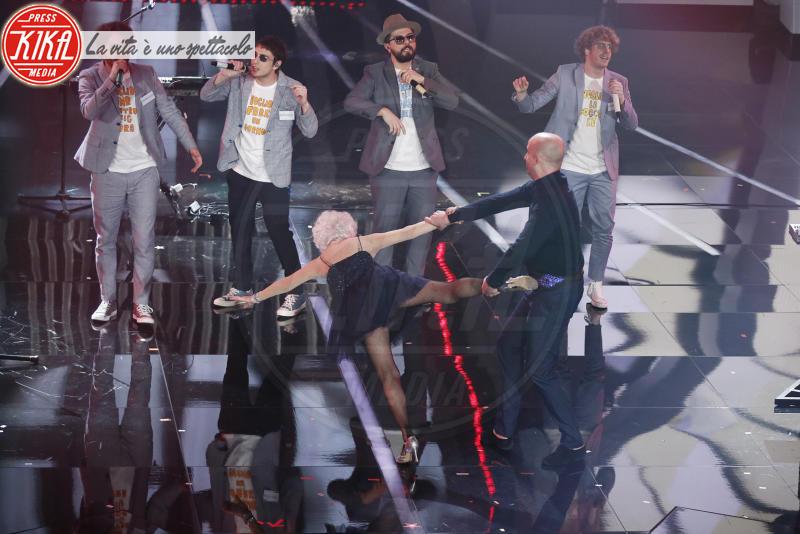 Paddy Jones, Lo Stato Sociale - Sanremo - 08-02-2018 - Sanremo 2018: l'ironia dei conduttori sul caso plagio