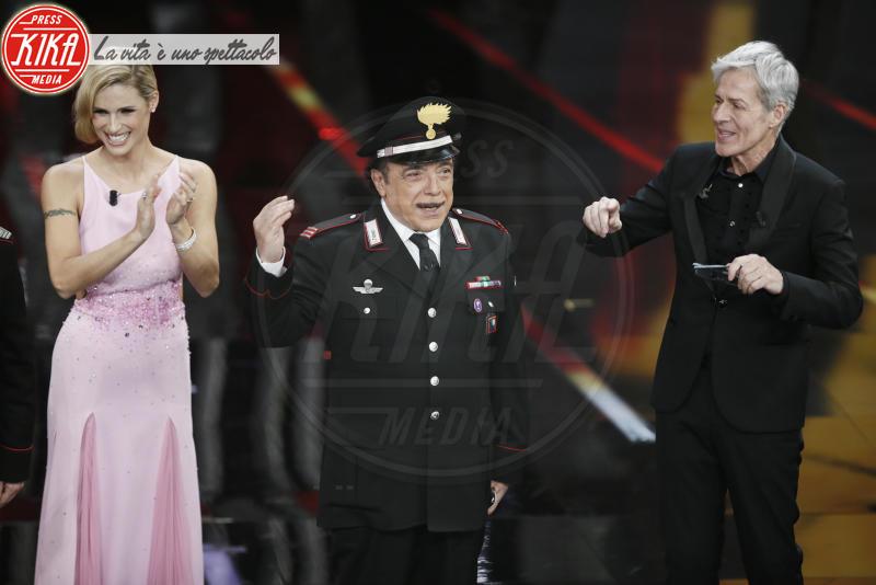 Nino Frassica, Michelle Hunziker, Claudio Baglioni - Sanremo - 09-02-2018 - Sanremo 2018: l'ironia dei conduttori sul caso plagio