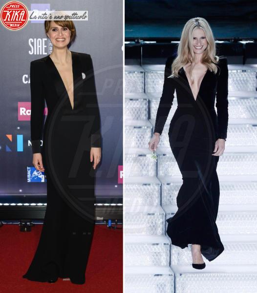 Michelle Hunziker, Paola Cortellesi - 22-03-2018 - Sanremo contro Hollywood: chi lo indossa meglio?