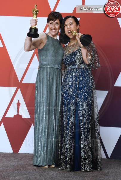 Domee Shi, Becky Neiman-Cobb - Hollywood - 24-02-2019 - Oscar 2019: vincono Roma, Green Book, Bohemian Rhapsody