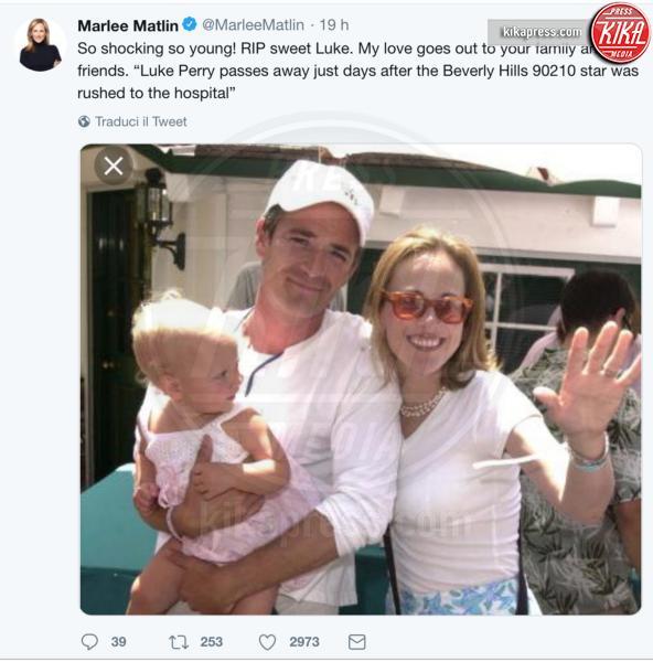 Luke Perry, Marlee Matlin - 05-03-2019 -  Luke Perry, ecco a quanto ammonta l'eredità per i figli