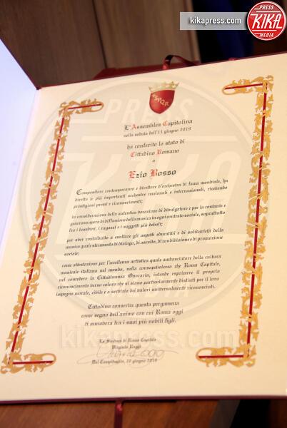 Roma - 20-06-2019 - Il Maestro Ezio Bosso è cittadino onorario di Roma