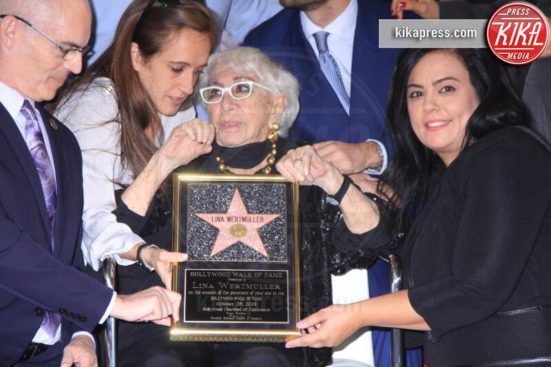 Rana Ghadban, Mitch O'Farrell, Lina Wertmuller - Hollywood - 29-10-2019 - Lina Wertmüller, la sua stella ora brilla sulla Walk of Fame