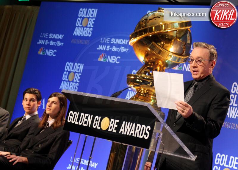 Paris Brosnan, Dylan Brosnan, Tim Allen - Los Angeles - 09-12-2019 - Golden Globes 2020: alle nomination trionfo The Crown e Scorsese