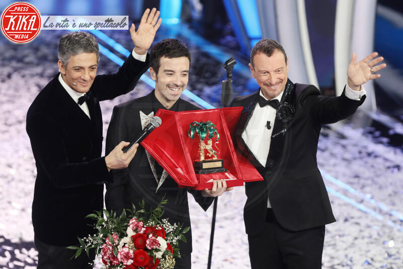 Diodato, Fiorello, Amadeus - Sanremo - 09-02-2020 - Sanremo 2020: Diodato vince il 70° Festival