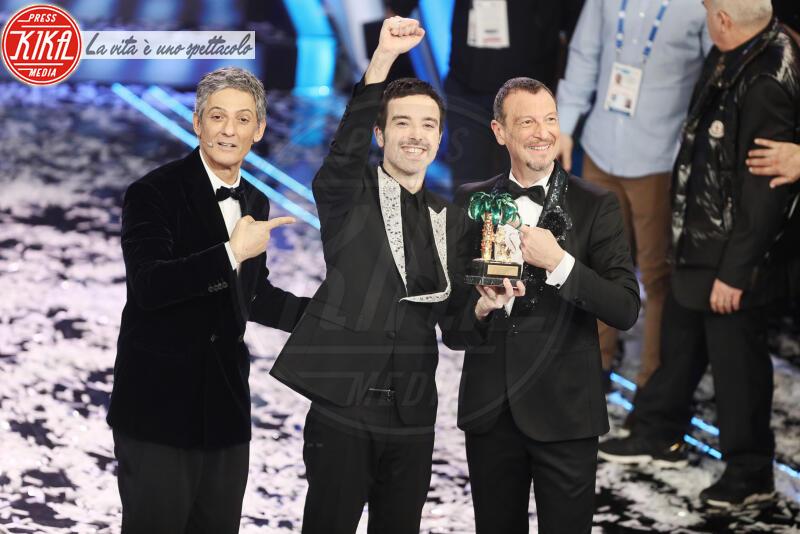 Diodato, Fiorello, Amadeus - Sanremo - 09-02-2020 - Sanremo 2020: Diodato vince il premio Mia Martini