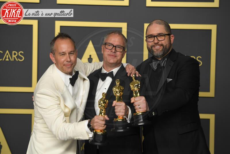 Oscars 2020: PRESS ROOM, Mark Nielsen, Josh Cooley, Jonas Rivera - Los Angeles - 09-02-2020 - Oscar 2020: Parasite fa la storia con 4 statuette da record