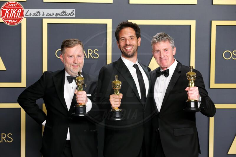 Greg Butler, Dominic Tuohy, Oscars 2020: PRESS ROOM, Guillaume Rocheron - Hollywood - 09-02-2020 - Oscar 2020: Parasite fa la storia con 4 statuette da record