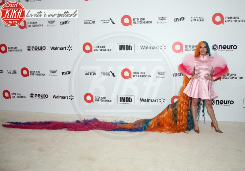 Guest - Los Angeles - 09-02-2020 - Oscar, Nina Senicar neomamma in forma al party di Elton John