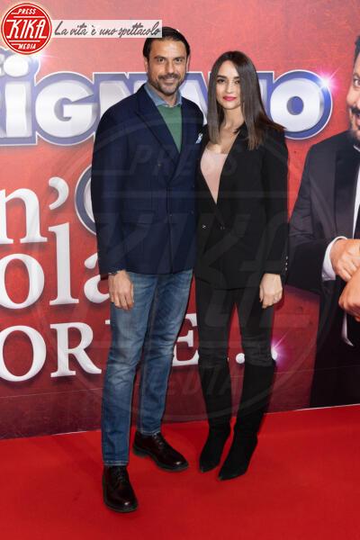 Stefano Fiore - Roma - 13-02-2020 - Elena Santarelli e Bernardo Corradi a teatro per Enrico Brignano