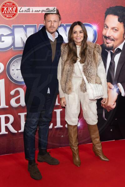 Ezia Modafferi, Roberto Baronio - Roma - 13-02-2020 - Elena Santarelli e Bernardo Corradi a teatro per Enrico Brignano