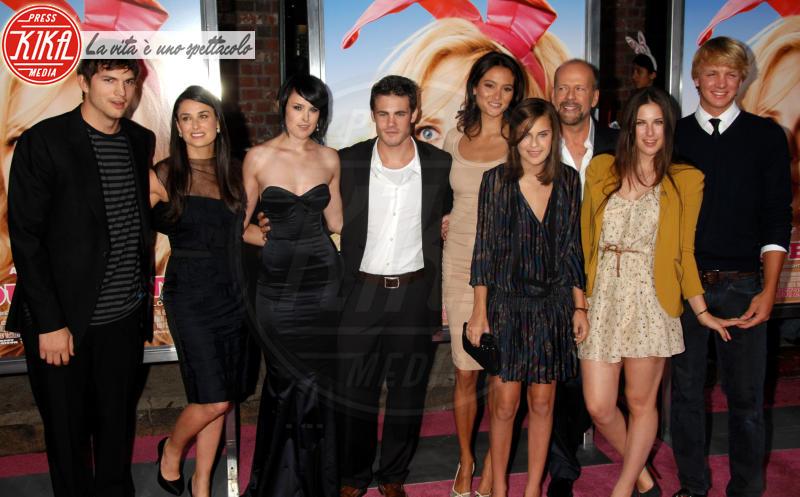 girlfrie, Rumer Willis, Bruce Willis, Demi Moore, Ashton Kutcher - Westwood - 20-08-2008 - Heidi Klum e Seal: il divorzio meglio riuscito dello showbiz